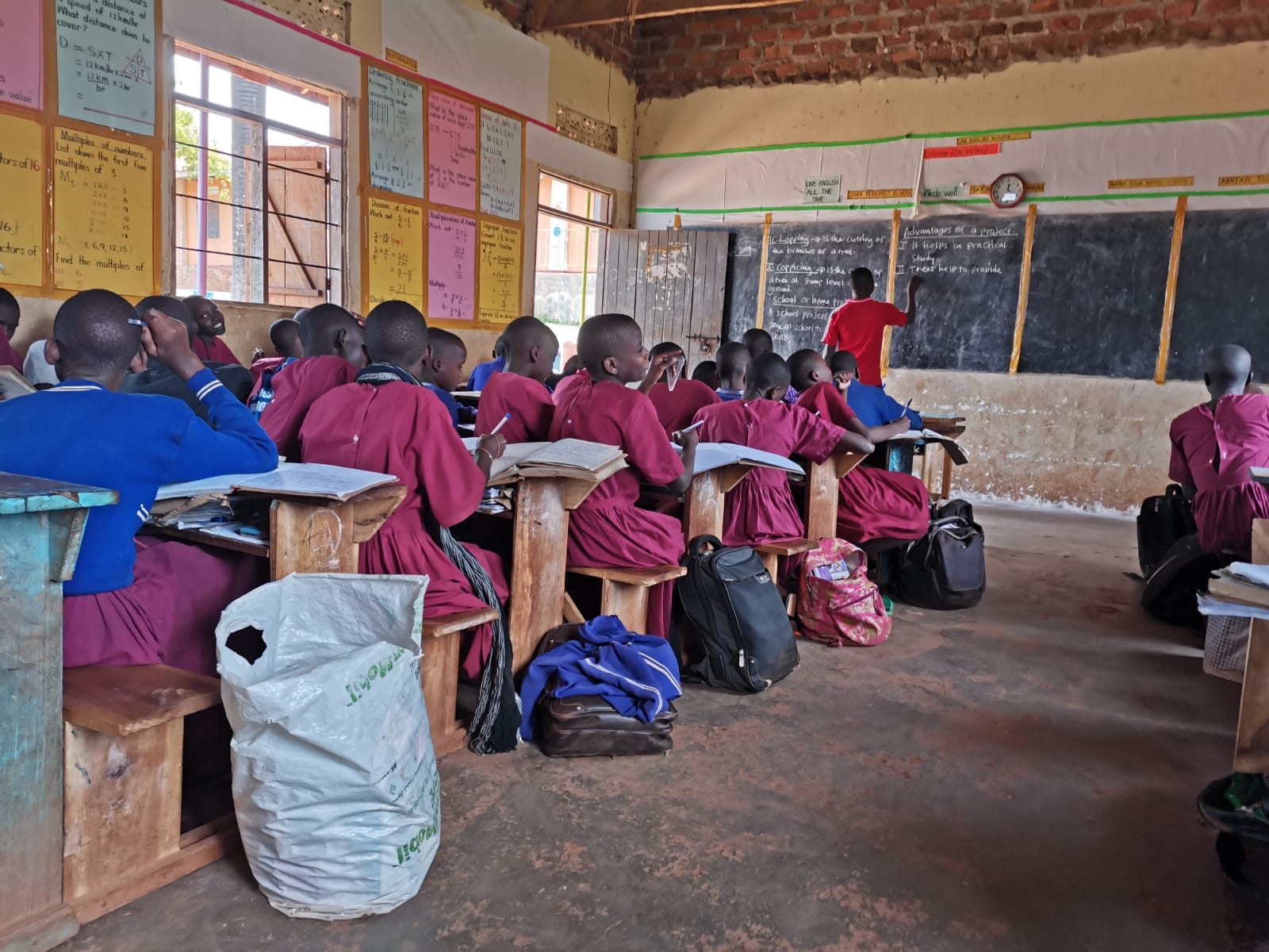In Uganda in der Schule