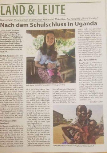 Toller Artikel über das Volontariat von Viola Stocker im Kitzbüheler Anzeiger